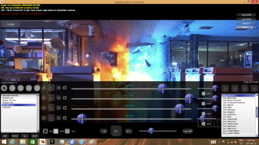 Computer video mixing software